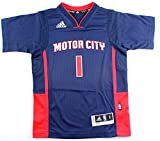 adidas ジャージ ReggieジャクソンDetroit Pistons # 1NBA Youth新しいSwingman Short Sleeve Pride Jersey
