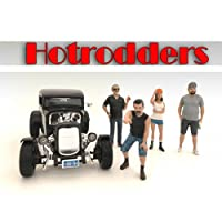 """Hotrodders"" 4 Piece Figure Set For 1:24 Scale Models by American Diorama サイズ : 1/24 [並行輸入品]"