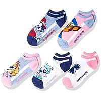 Nickelodeon Little Girls' Paw Patrol 5 Pack No Show Socks