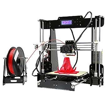 Aibecy 3Dプリンターキット Anet A8 高精度 DIY Reprap i3 自動セルフレベリング アクリルフレーム印刷 サイズ 220*220*240mm 8GB メモリーカード&1巻 PLAフィラメント付き 支持ABS / PLA / HIP / PP /木フィラメント