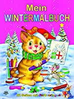 Wintermalbuch pink: Malbuch - 32 Seiten mit Farbvorlagen