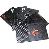 トランプカード (ブラック) 金 プラスチック ゴージャス 手品 パーティー グッズ テーブルマジック カードゲーム かっこいい ポーカー 人気 jojo 防水 映え アメリカン雑貨