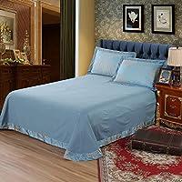 寝具柔らかいおよび純粋な色の通気性ポリエステルホイル3部分セットは1個の革紐の生地2個の枕カバーを含んでいる,QUEEN
