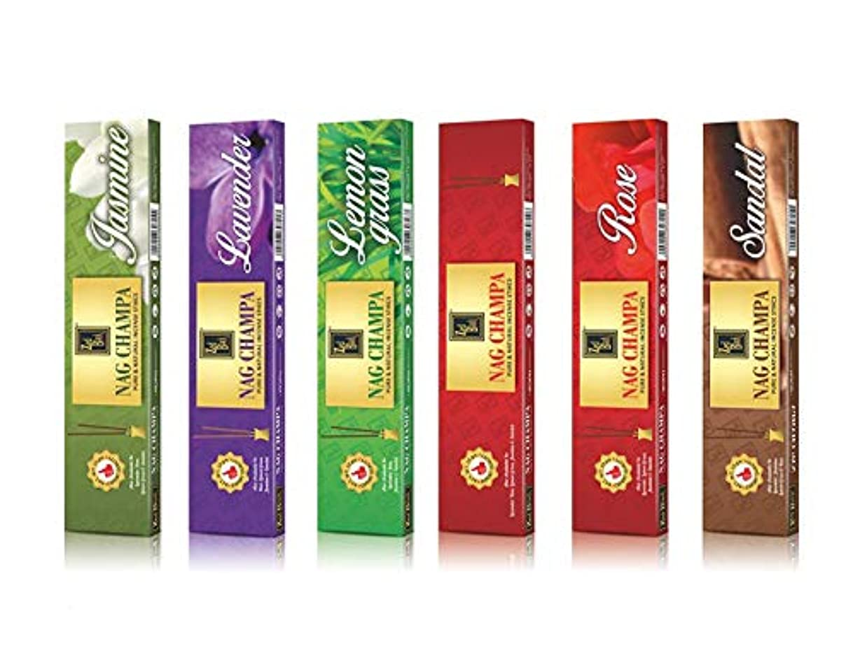 かろうじてオートメーションイタリアのNagchampaプレミアム天然香料Sticks – 6のパック(10 Sticks perボックス)