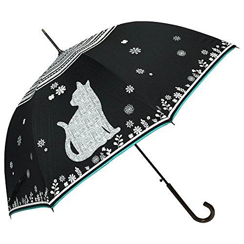 [해외](마콧카) macocca 청우 겸용 UV 컷 차광 비율 99 % 큰 고양이 무늬 실버 코팅 점프 우산/(Makokka) macocca Rain and shade combined use UV cut light blocking rate 99% big cat pattern silver coating jump umbrella