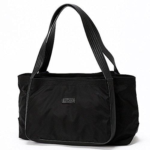 イザック(Y'saccs) ナイロン ファイブステッチデザイン トートバッグ Mサイズ【ブラック/**】