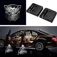 3D Ghost Shadow Emblems ワイヤレスドアロゴ シャドーゴーストライト (2個) フォード フォーカス 2 フィエスタ F150 モンデオ トランジット マスタングなどに対応 マルチカラー