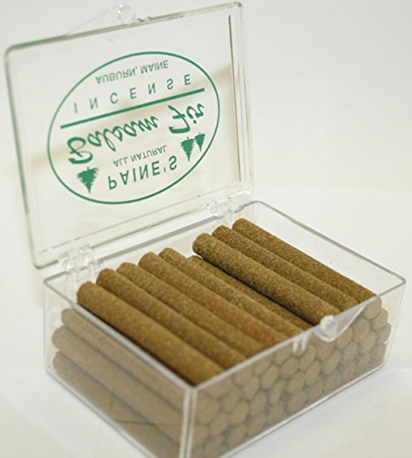 代数賞賛悪魔お香リフィル40 Balsam Fir Sticks to BurnロッジスタイルSachet香りつきパインログ