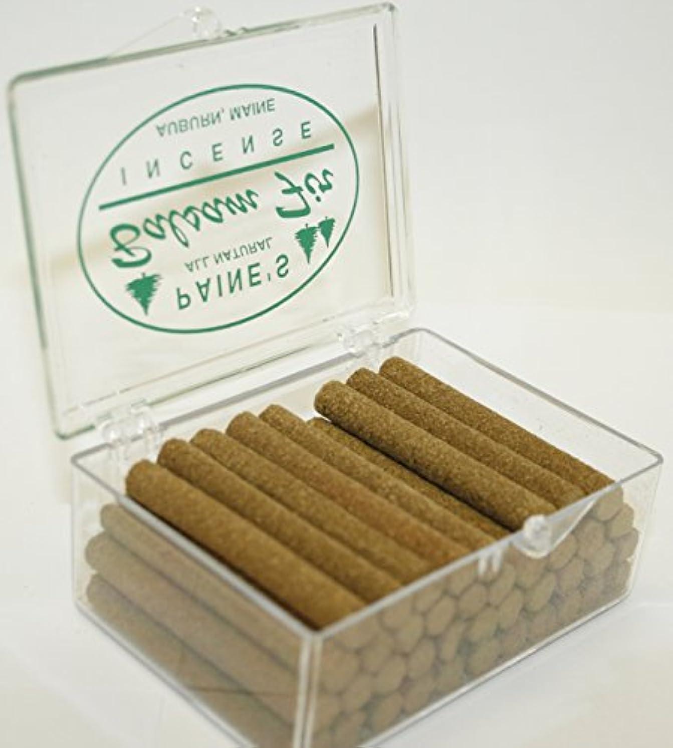 会話分解するはがきお香リフィル40 Balsam Fir Sticks to BurnロッジスタイルSachet香りつきパインログ
