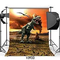 GooEoo 5x7ftティラノサウルス・レックス恐竜3D写真撮影の背景子供男の子誕生日パーティー写真背景10933