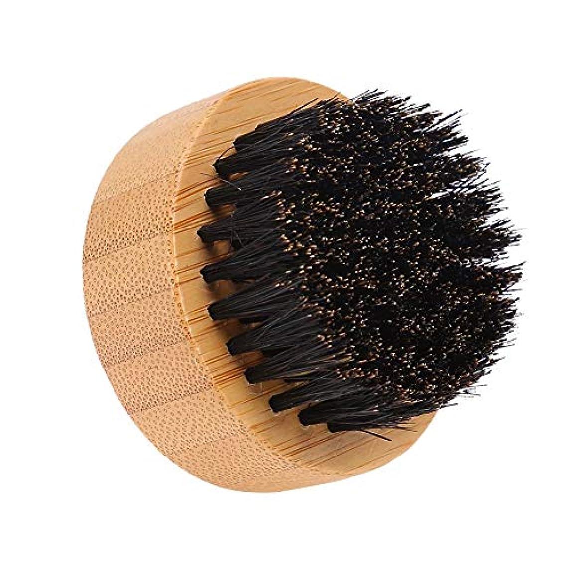 立法理容師上向きYuyte男性口ひげスタイリング思いやりのあるイノシシ髪髭ブラシラウンドフェイシャルヘアコーム