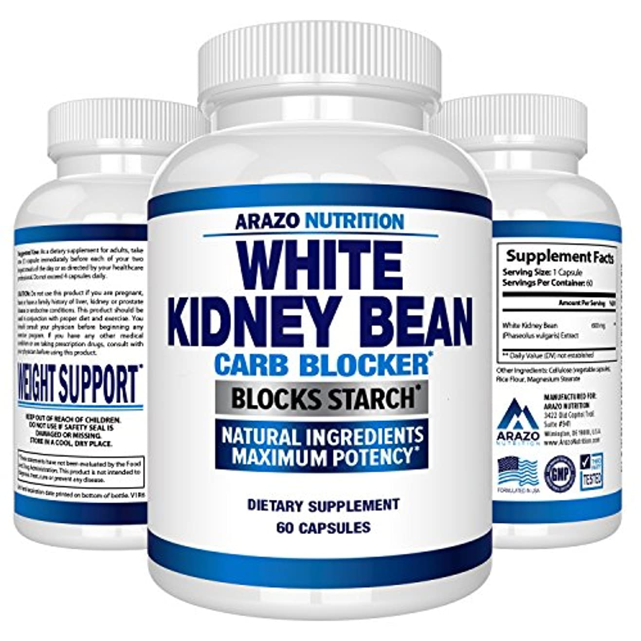 認可用心する放射性White Kidney Bean Extract 60 capculs