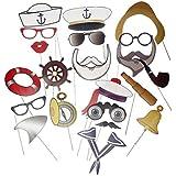 Sharplace セーラー キャプテン 海軍 航海スタイル 誕生日 パーティー 子供 写真ブース 道具 1セット