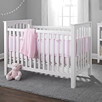 BreathableBaby Deluxe Cable Weave 4 Piece Bedding Set, Pink by BreathableBaby