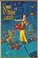 ポスター ジェームス フレームス Mondo Snow White 白雪姫 Cyclops Print 限定305枚 手書きナンバリング入り 額装品 アルミ製ハイグレードフレーム(ゴールド)