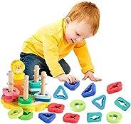 let's make 蒙特蘇利 拼圖模杯 眼睛 形狀拼接 多彩 獅子 益智玩具 腦活性化 幾何認知癥 預防幼兒 積木玩具 出生賀禮
