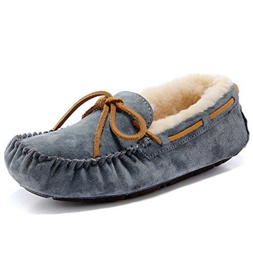 [해외]무톤 모카신 양모 길이 양털 따뜻한 컷 리본 로퍼 캐주얼 평소/Mouton Moccasin Sheepskin Length Wool Warm Low Cut Ribbon Loafer Casual Normal
