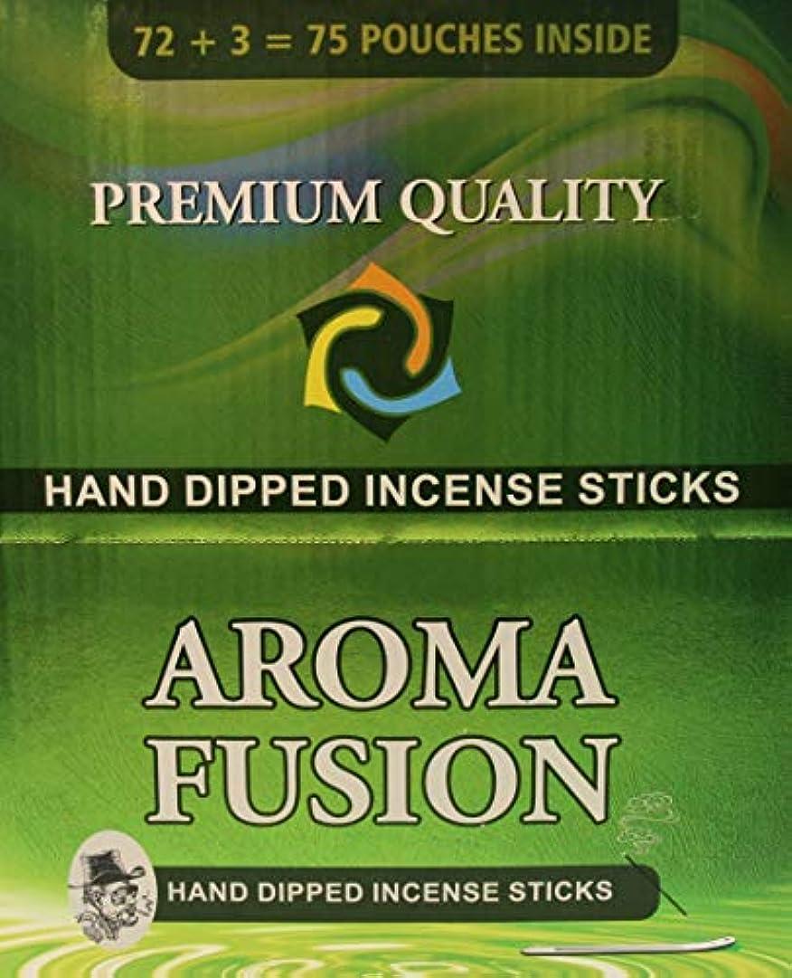 アロマフュージョンプレミアム品質手染めお香スティック | 75種類ポーチ | 合計1,125本 | 20種類の香り | お香ディスプレイケース