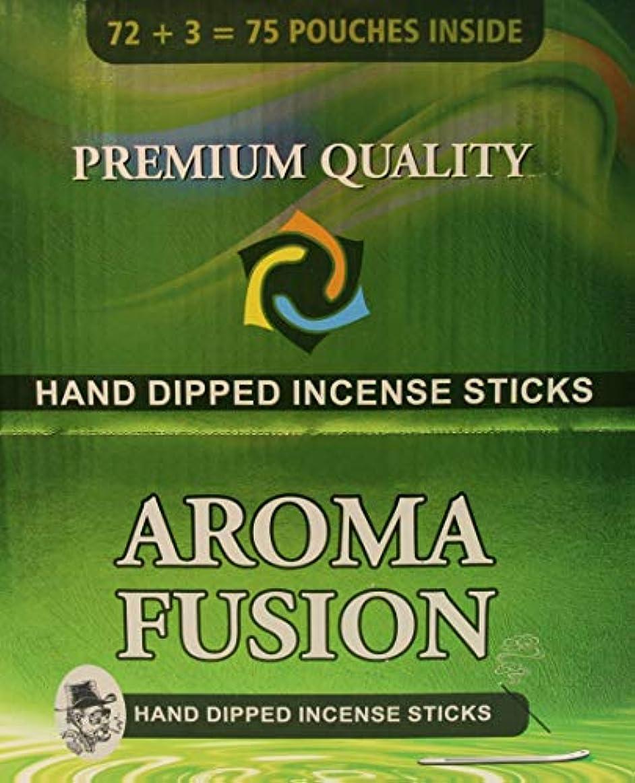 シダ補助海アロマフュージョンプレミアム品質手染めお香スティック | 75種類ポーチ | 合計1,125本 | 20種類の香り | お香ディスプレイケース