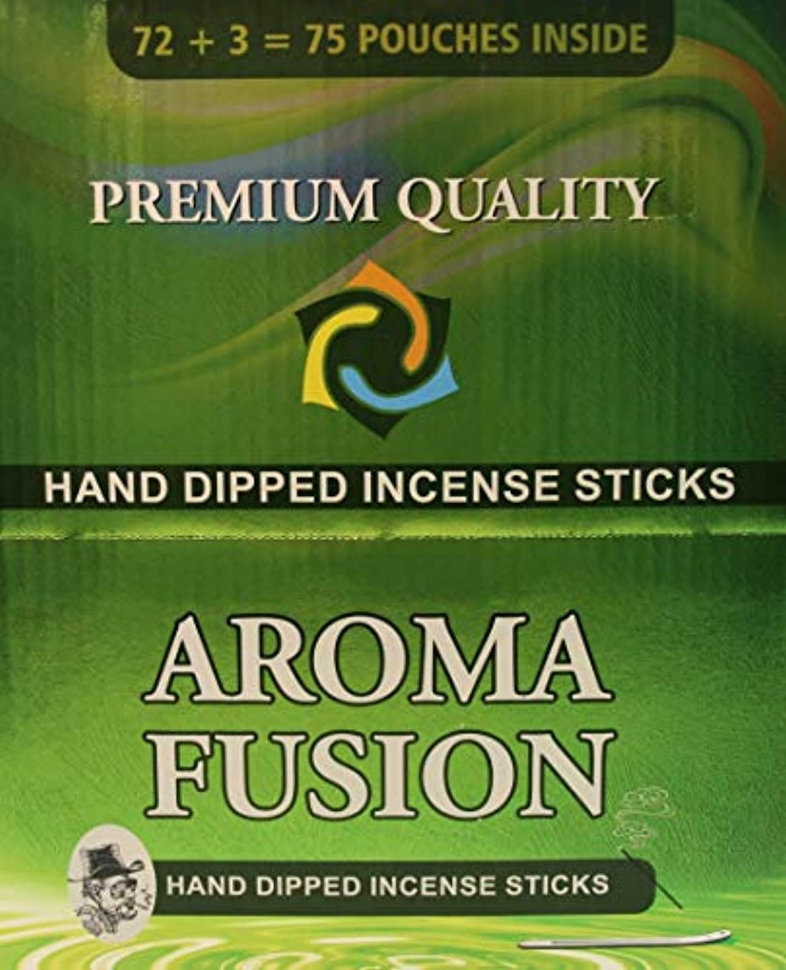 チャネル別々に送信するアロマフュージョンプレミアム品質手染めお香スティック   75種類ポーチ   合計1,125本   20種類の香り   お香ディスプレイケース