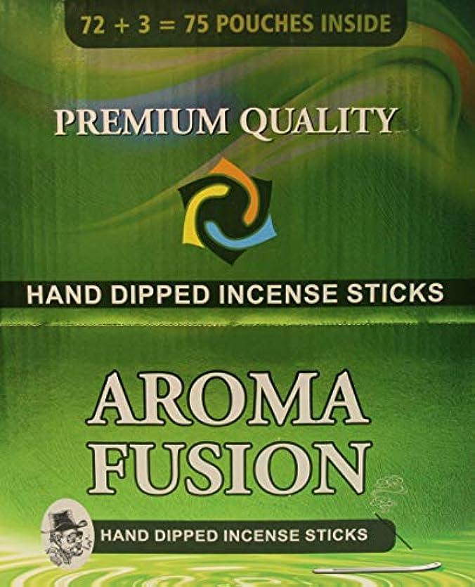 森林紫の避難するアロマフュージョンプレミアム品質手染めお香スティック | 75種類ポーチ | 合計1,125本 | 20種類の香り | お香ディスプレイケース