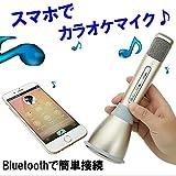 GoodsLand スマホでカラオケ ポータブル カラオケ マイク スピーカー Bluetooth 簡単 1人カラオケ パーティー エコー GD-KARAMIC