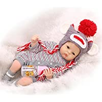 新生児Little Girl Doll Look realシリコンFake Reborn Babies For Mommy Treats、22インチ
