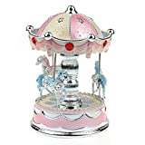 Education Toy,Baomabao Merry-Go-Round Music Box Christmas Birthday Gift Carousel Music Box_Pink by Baomabao [並行輸入品]