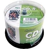 磁気研究所 Galaxy CD-R データ用 700MB 52倍速 ワイドエリアホワイトプリンタブル スピンドルケース 50枚 GXCR80GP50