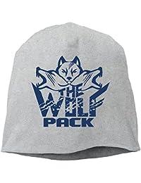 【Dera Princess】メンズ レディース ニット帽 Wolf Pack Grunge Retroロゴ コットン ニットキャップ 帽子 オールシーズン 被れる