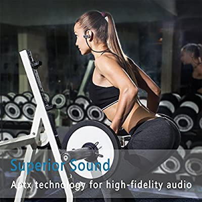 (Black) - Bluetooth Headphones Wireless Bluetooth 4.1 IPX7 Waterproof Sport Earphones, Stereo In-Ear Earbuds with Built-in Mic, Noise Cancelling Headset 8-9 Hrs Playtime for Gym Cycling Running for iPhone iPad Samsung Huawei Siri Android