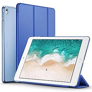 ESR iPad Pro 12.9インチ 2017(新モデル) ケース 超軽量 極薄 半透明 レザー 三つ折スタンド オートスリープ機能 スマートカバー 新しいiPad Pro 12.9インチ 2017最新版専用 全5色 (ネイビーブルー)