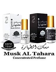 Musk Al tahara Pure Saudi Altahara Perfume White & Black 12 ml Oil Incense Scented Unisex Body Fragrance Alcohol...