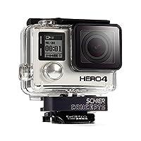 Schierクランプfor GoPro Heroカメラ(ブラック) |革新的な、安全な蝶ネジR。。。