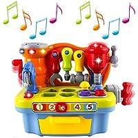 Wishtime 今日から大工さん 幼児向け ワークセンター ワークベンチ ツールボックス ごっこ遊び ねじ遊び 組み立て 知育玩具