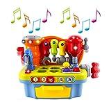 Wishtime 赤ちゃん 大工さんセット 大工さんごっこ遊び ねじ遊び ワークセンター 組み立て 指遊び 知育玩具 おもちゃ