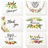 INTVN 感謝カード thank you カード グリーティングカード メッセージカード ありがとうカード 封筒付き 24枚入 (6種類 X 4)