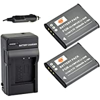 DSTE® アクセサリーキット Olympus LI-50B  Pentax D-LI92 互換 カメラ バッテリー 2個+充電器キット対応機種 Olympus Stylus 1010 1020 1030 9000 9010 SP-720UZ iHS 800UZ 810UZ SZ-15 16 iHS 20 30MR Stylus Tough TG-870 I-10 RZ10 RZ18 WG-1 WG-2 WG-3 WG-4 WG-10 X70
