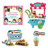 LeapFrog数Lovin 'オーブン、スクープ& Learn Ice Cream Cart , Kids First Cookbook : Learning to Cookは楽しい、おもちゃ、オーブン、Iceクリームカート、学習玩具、Pretend Play