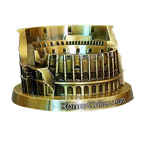 PROW® メタルローマコロッセオモデルレトロブロンズ古代建築ハンドメイドクラフト家デスクトップデココレクター人工世界有名な建物彫刻