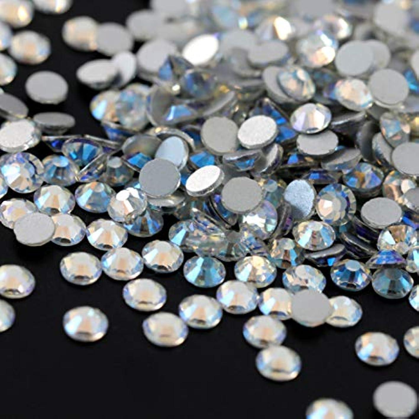 光テーブルを設定するバンク【ラインストーン77】高品質ガラス製ラインストーン 色/サイズ選択可 SS3~SS50 スワロフスキー同等 (ノーザンライツ, SS30:約6.3mm(約45粒))