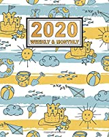 2020 Weekly & Monthly Planner: Beach Daily Weekly Monthly 2020 Calendar Planner  | January 2020 to December 2020