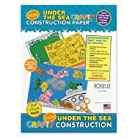 Roselle 02806 Crafty Printed建設紙、55ポンド。、9 x 12、under the sea , 40シート/パッド