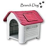 【Branch Dog】 犬小屋 小・中型犬用 ドッグハウス シェルター 屋外用419(P) (プラスチック製)ヨーロッパ・アメリカ輸出用 (ピンク)