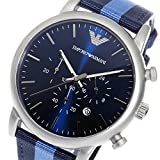 エンポリオ アルマーニ ARMANI クロノ クオーツ メンズ 腕時計 AR1949 ブルー