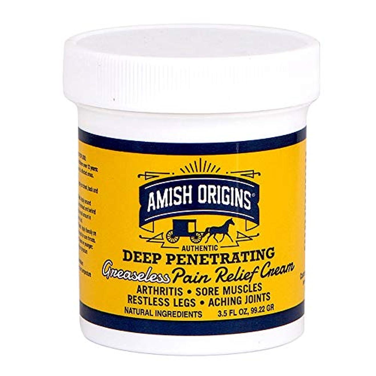 晩餐強打延期する海外直送品Deep Penetrating Pain Relief Cream, 3.5 OZ by Amish Origins