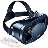 【Twinklg VRゴーグル】 vr ゴーグルスマホ用 VRヘッドセット VRマウントディスプレイ VRメガネ VR用 Bluetoothリモコン付 5~7インチスマホ対応 近視/遠視適用 ヘッドバンド調節可 日本語取扱書付【12カ月安心保障】 入