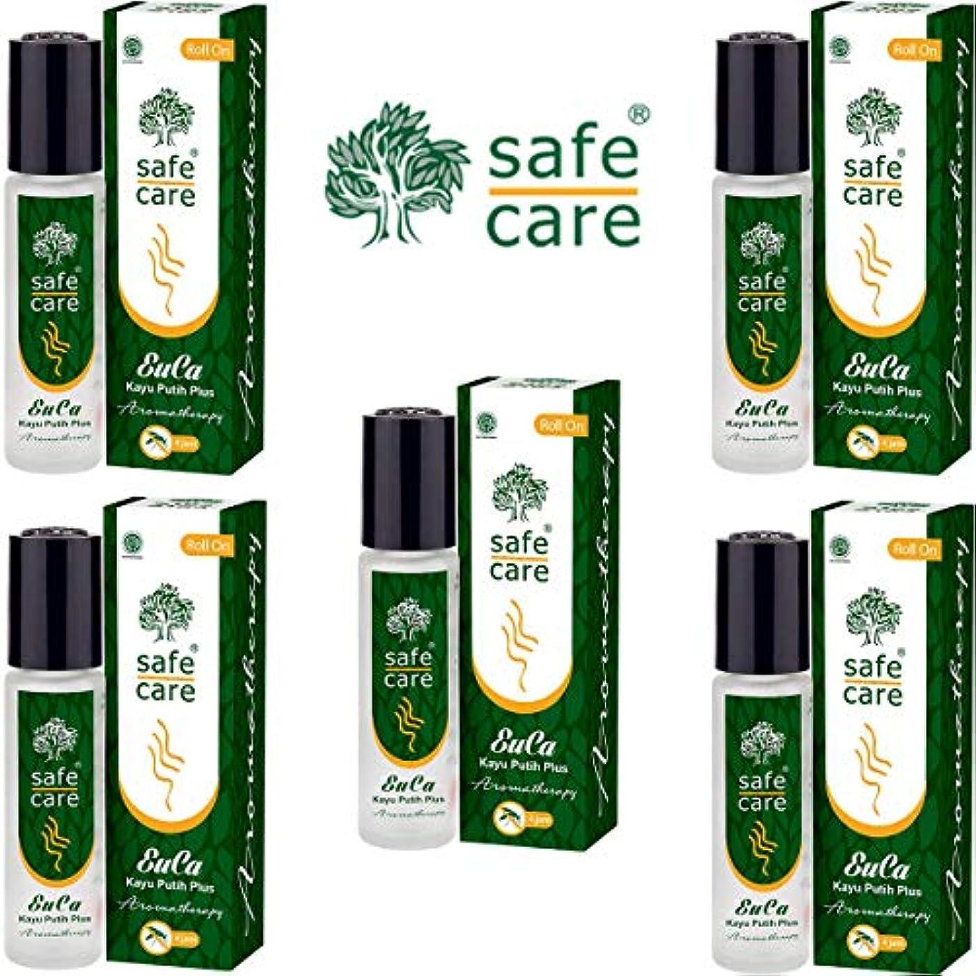 受信見込み折り目Safe Care セーフケア Aromatherapy Kayu Putih Plus アロマテラピー リフレッシュオイル カユプティプラス ロールオン 10ml×5本セット [海外直送品]