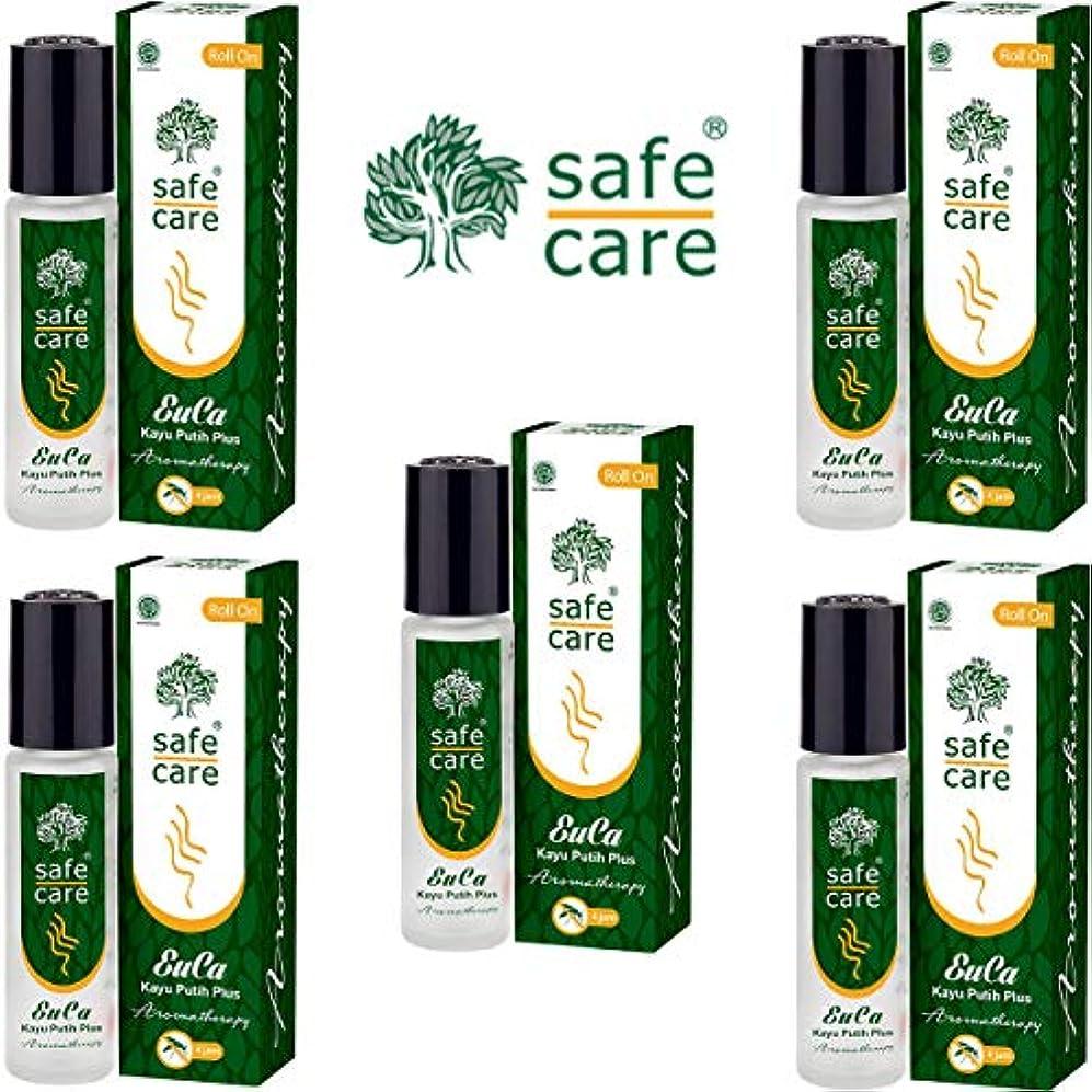 バケツ差し引く星Safe Care セーフケア Aromatherapy Kayu Putih Plus アロマテラピー リフレッシュオイル カユプティプラス ロールオン 10ml×5本セット [海外直送品]