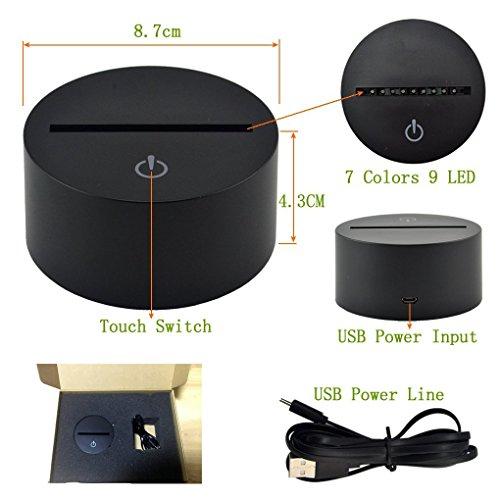 Spider 動物 3D ビジュアル アクリル 家庭 触れます スタンドカラーの アート装飾 USB LED 子供デスクトップライト 3D-TD132